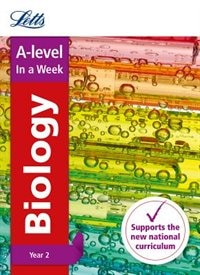 Book A-level Biology Year 2 In A Week (letts A-level In A Week - New Curriculum) by Letts A-level