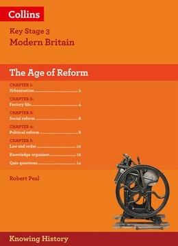 Book Ks3 History The Age Of Reform (knowing History) by Robert Peal