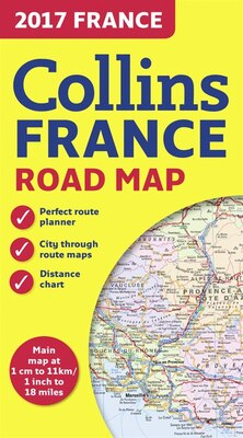 Book 2017 Collins Map Of France by Collins Maps