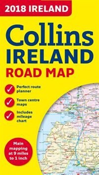Book 2018 Collins Map Of Ireland by Collins Maps