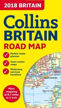 Book 2018 Collins Map Of Britain by Collins Maps