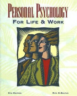 Book Personal Psychology for Life and Work by Rita Baltus
