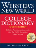Webster's New World College Dictionary, 4th Edition (Thumb-Indexed)