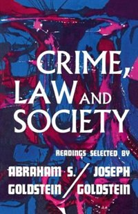 Book Crime Law & Society by Joseph Goldstein