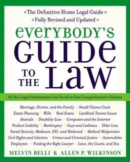 Book Everybody's Guide To The Law- Fully Revised & Updated 2nd Edition: All The Legal Information You… by Allen Wilkinson