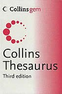 Book Collins Thesaurus A-z by Harper Collins Publishers