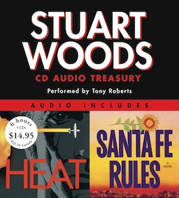 Book Stuart Woods Cd Audio Treasury Low Price: Santa Fe Rules and Heat by Stuart Woods