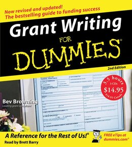 Book Grant Writing For Dummies 2nd Ed. Cd by Beverly Browning