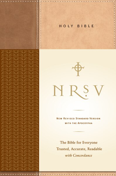 Nrsv, Standard Bible With Apocrypha, Hardcover, Tan/brown: The Bible For Everyone: Trusted, Accurate, Readable by Bibles Zondervan