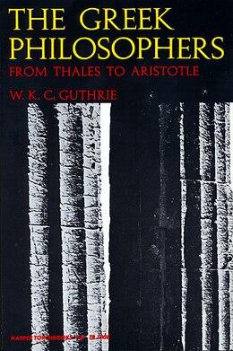 Book GREEK PHILOSOPHERS by William K. Guthrie
