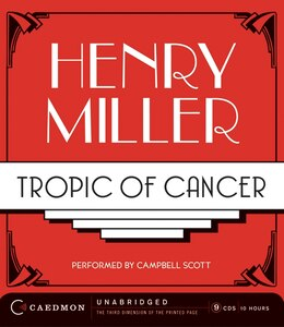 Book Tropic Of Cancer Cd by Henry Miller