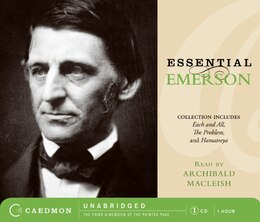Book Essential Emerson Cd by Ralph Waldo Emerson