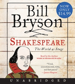 Book Shakespeare Low Price Cd by Bill Bryson