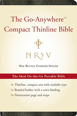 Book Nrsv Go-anywhere Compact Thinline Bible (bonded Leather, Black) by Bibles Harper Bibles