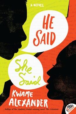 Book He Said, She Said by Kwame Alexander