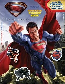 Book Man of Steel: Reusable Sticker Book by John Sazaklis