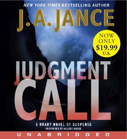 Book Judgment Call Low Price Cd: A Brady Novel Of Suspense by J. A. Jance