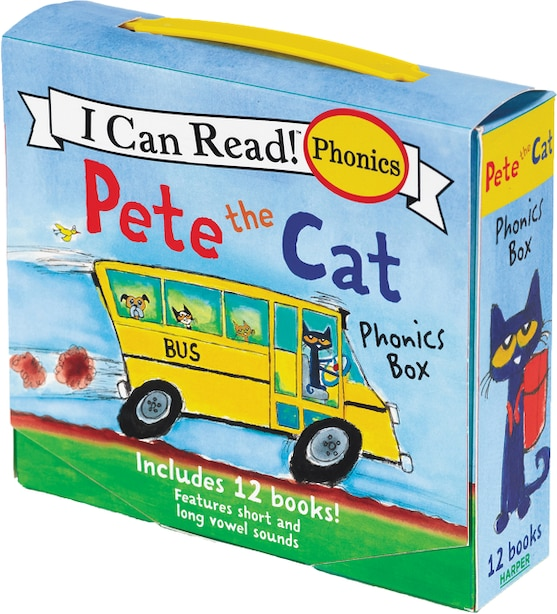 Pete the Cat Phonics Box: Includes 12 Mini-books Featuring Short And Long Vowel Sounds by James Dean