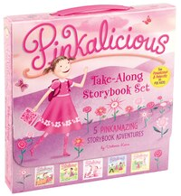 The Pinkalicious Take-Along Storybook Set: Tickled Pink, Pinkalicious and the Pink Drink, Flower…