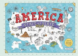 Book America State By State: Fifty Removable Placemats To Color by Holly Graham