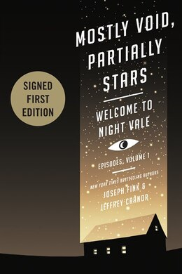 Book Mostly Void, Partially Stars Indigo Signed Edition by Joseph Fink