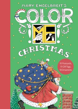 Book Mary Engelbreit's Color Me Christmas Book Of Postcards by Mary Engelbreit