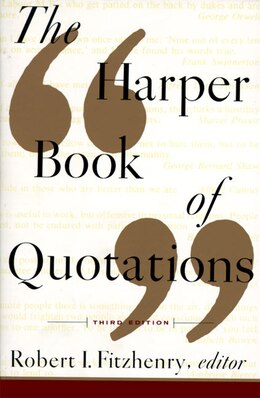 Book The Harper Book of Quotations by Robert I. Fitzhenry