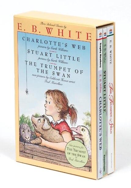 E. B. White Box Set: 3 Classic Favorites: Charlotte's Web, Stuart Little, The Trumpet Of The Swan de E. B White