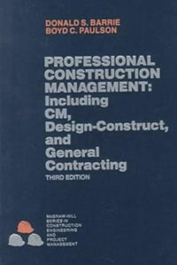 Book Professional Construction Management by Donald Barrie