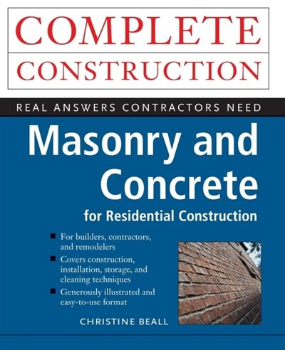 Masonry and Concrete by Christine Beall