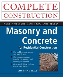 Book Masonry and Concrete by Christine Beall
