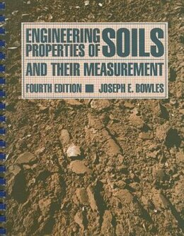 Book Engineering Properties of Soils and their Measurement by Joseph Bowles
