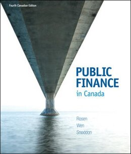 Book Public Finance in Canada by Harvey Rosen