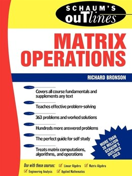 Book Schaum's Outline of Matrix Operations by Richard Bronson
