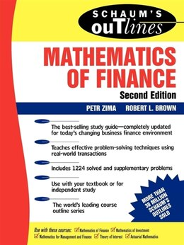 Book Schaum's Outline of  Mathematics of Finance by Petr Zima