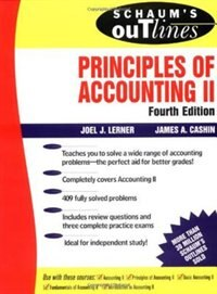 Book Schaum's Outline of Principles of Accounting II by Joel Lerner