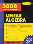 Book 3,000 Solved Problems in Linear Algebra by Seymour Lipschutz