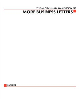 Book The McGraw-Hill Handbook of More Business Letters by Ann Poe