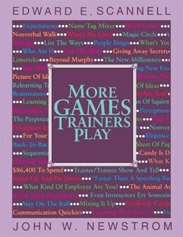 Book More Games Trainers Play by Edward Scannell