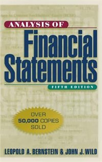 Book Analysis of Financial Statements by Leopold Bernstein