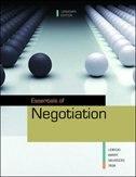 Book Essentials of Negotiation by Roy Lewicki