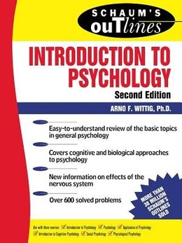 Book Schaum's Outline of Introduction to Psychology by Arno Wittig