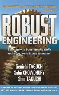 Book Robust Engineering: Learn How to Boost Quality While Reducing Costs & Time to Market: Learn How to… by Genichi Taguchi