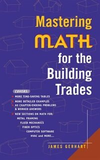 Book Mastering Math for the Building Trades by James Gerhart