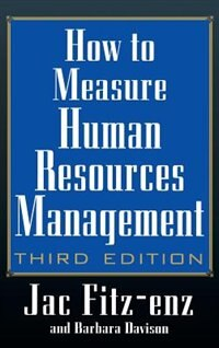 Book How to Measure Human Resource Management by Jac Fitz-enz
