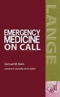 Book Emergency Medicine ON CALL by Samuel Keim