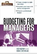 Book Budgeting For Managers by Sid Kemp