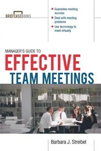 Book The Manager's Guide To Effective Meetings by Barbara Streibel