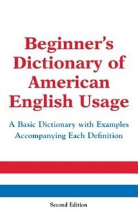 Book Beginner's Dictionary of American English Usage, Second Edition by Peter Collin