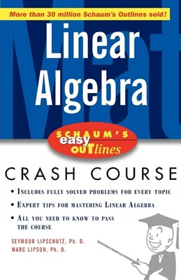 Book Schaum's Easy Outline of Linear Algebra by Seymour Lipschutz